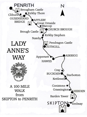 Lady Annes Way map