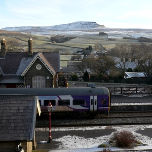 Train at Horton-in-Ribblesdale Station