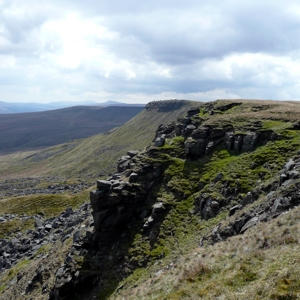 The Nab juts out with Wild Boar Fell behind