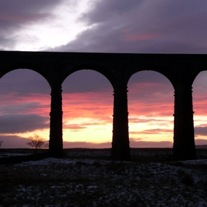 Ribblehead Viaduct at dusk