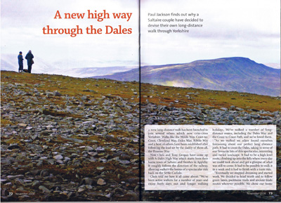 Dalesman article November 2008