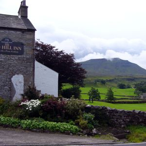 The Hill Inn with Ingleborough