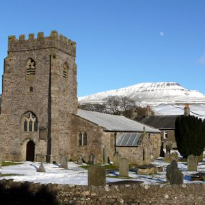 St. Oswald's chruch and Pen-y-ghent