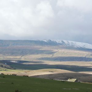 Ribblehead Viaduct and Whernside come into view