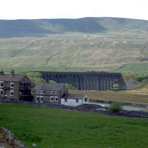 The Station Inn with Whernside beyond