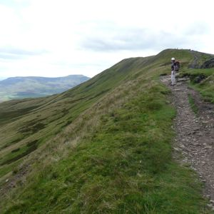 Approaching the summit of Whernside